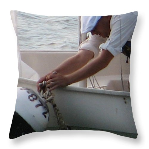 Sailboat Throw Pillow featuring the photograph Icey Fingers by Kelly Mezzapelle