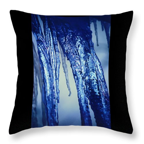 Icicle Throw Pillow featuring the photograph Icicle by Carol J Deltoro