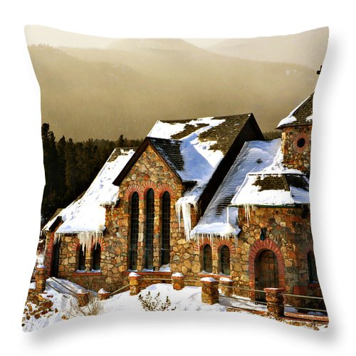 Americana Throw Pillow featuring the photograph Icicles by Marilyn Hunt