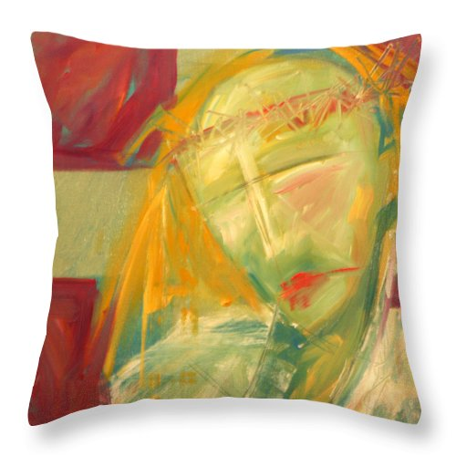 Christ Throw Pillow featuring the greeting card Icon Number Ten by Tim Nyberg