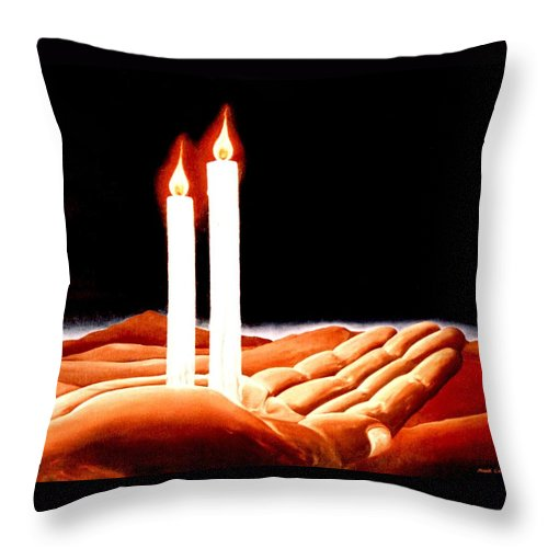 Surreal Throw Pillow featuring the painting Iconoclastic Tears by Mark Cawood