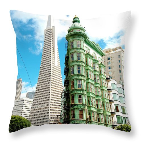 City Throw Pillow featuring the photograph Icons Of San Fran by Greg Fortier