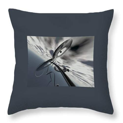 Scott Piers Throw Pillow featuring the painting Id2a by Scott Piers