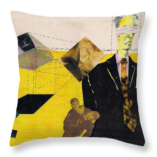 Idol Icon Conflict Lies Vicious Throw Pillow featuring the mixed media Idolatry by Veronica Jackson