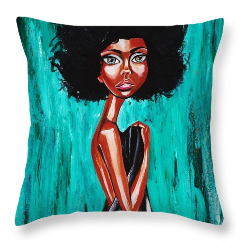 Afro Throw Pillow featuring the photograph If From Past Sins Ive Been Washed Clean-why Do I Feel So Dirty by Artist RiA