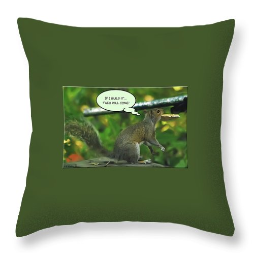 2d Throw Pillow featuring the photograph If I Build It by Brian Wallace