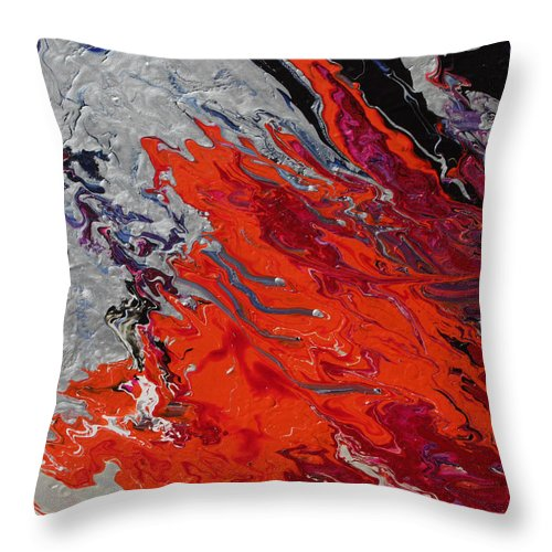 Fusionart Throw Pillow featuring the painting Ignition by Ralph White
