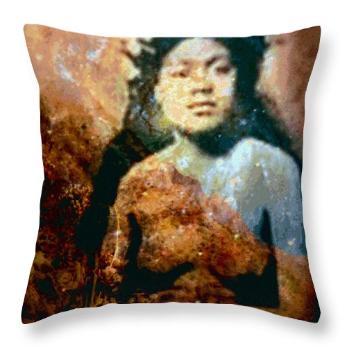 Tropical Interior Design Throw Pillow featuring the photograph Ike Papalua by Kenneth Grzesik