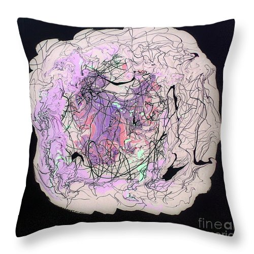 I'll Be Dreaming Throw Pillow featuring the painting I'll Be Dreaming by Dawn Hough Sebaugh