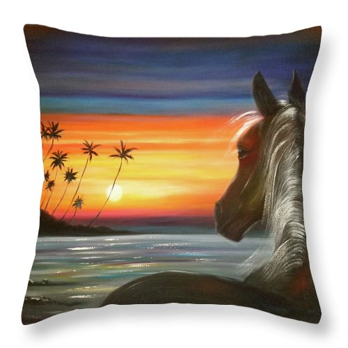 Art Throw Pillow featuring the painting I'll Be There by Gina De Gorna