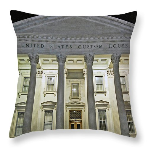 United States Throw Pillow featuring the digital art Illuminated Beneath The Darkness by DigiArt Diaries by Vicky B Fuller