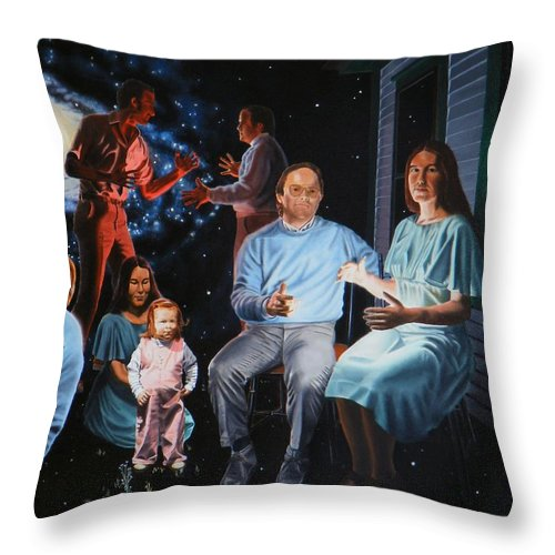 Surreal Throw Pillow featuring the painting Illumination Beyond Ursa Major by Dave Martsolf