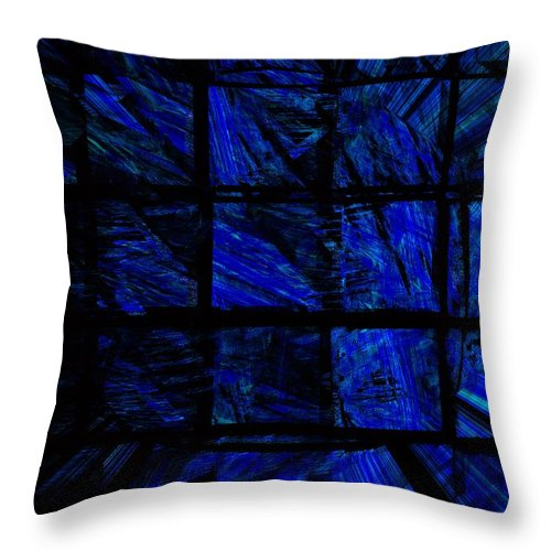 Abstract Digital Painting Throw Pillow featuring the digital art Illusion by David Lane
