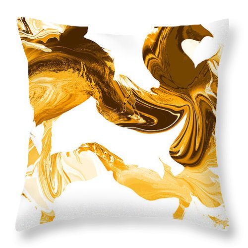 Illusions Throw Pillow featuring the painting Illusions In Gold by Abstract Angel Artist Stephen K