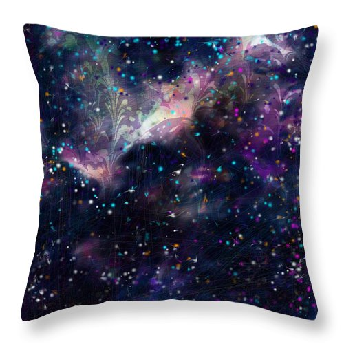 Abstract Throw Pillow featuring the digital art I'm In Heaven by Rachel Christine Nowicki