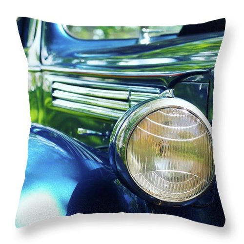 Antique Throw Pillow featuring the photograph Vintage Packard by Heidi Hermes