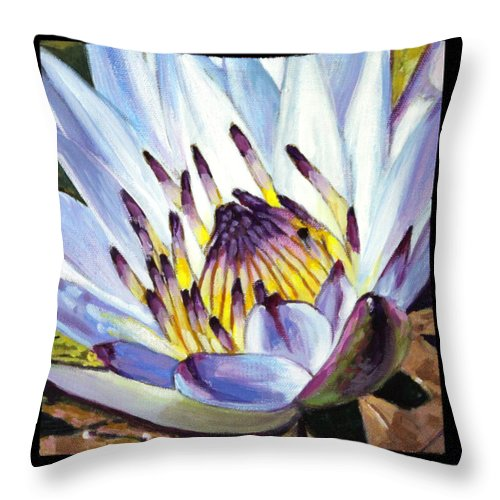 Water Lily Throw Pillow featuring the painting Image Number Three by John Lautermilch