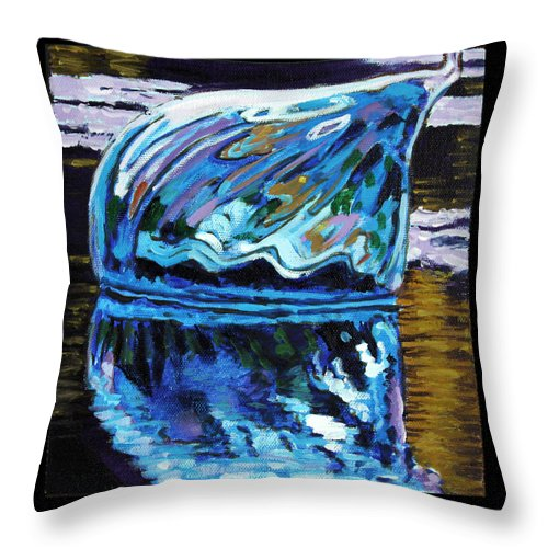 Blown Glass Throw Pillow featuring the painting Image Number Two by John Lautermilch