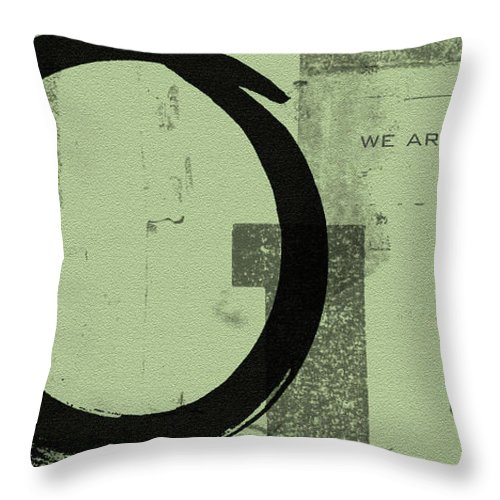 Green Throw Pillow featuring the painting Image Of Peace by Julie Niemela