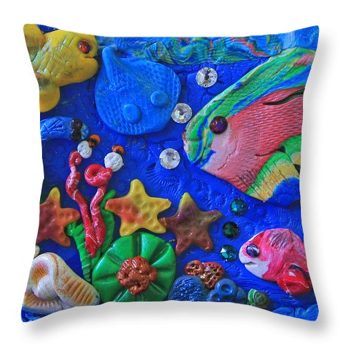 Polymer Clay Sea World Throw Pillow For Sale By Donna Haggerty