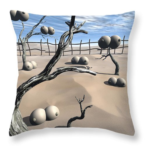 Humor Throw Pillow featuring the digital art Imm Plants by Richard Rizzo