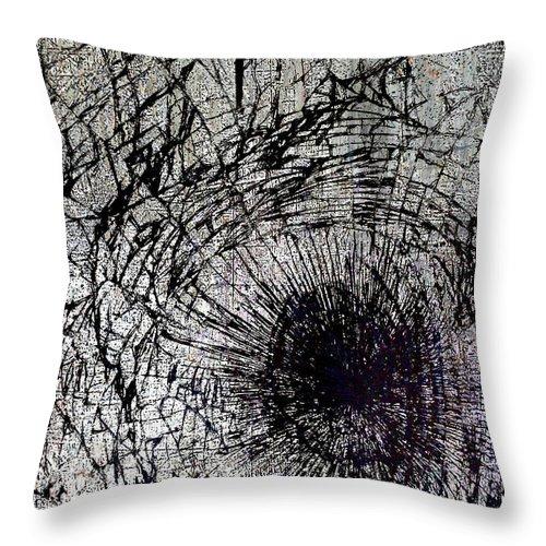New York City Throw Pillow featuring the mixed media Impact by Tony Rubino