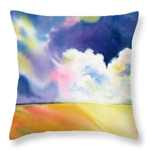 Storm Throw Pillow featuring the painting Impending Storm by Deborah Ronglien