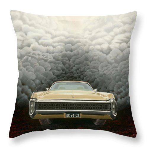 Surreal Throw Pillow featuring the painting Imperial by Patricia Van Lubeck