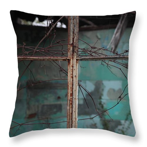 Windows Throw Pillow featuring the photograph Imposition by Amanda Barcon