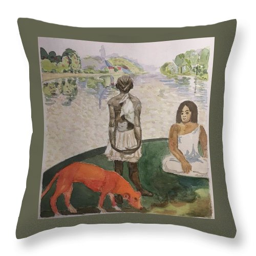 Impressionism Throw Pillow featuring the painting Impressed by Yonger Xie
