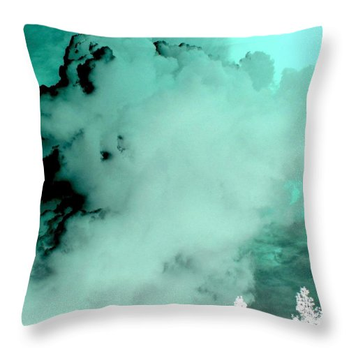 Impressions Throw Pillow featuring the digital art Impressions 10 by Will Borden