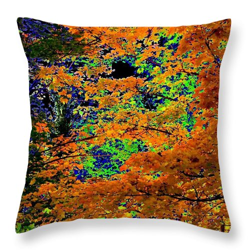 Impressions Throw Pillow featuring the digital art Impressions 3 by Will Borden