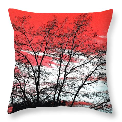 Impressions Throw Pillow featuring the digital art Impressions 6 by Will Borden