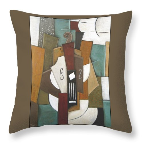 Cubism Throw Pillow featuring the painting Impromptu by Trish Toro