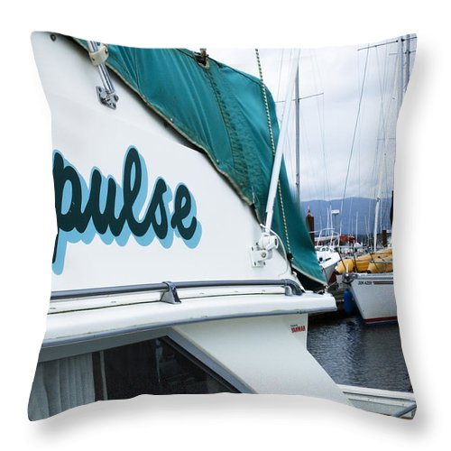 Boats Throw Pillow featuring the photograph Impulse by Bob Christopher