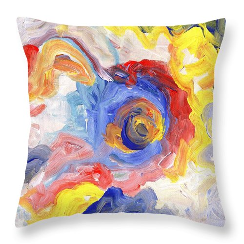 Contemporary Throw Pillow featuring the digital art Impulse Projected by Linda Mears