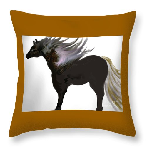 Animal Throw Pillow featuring the painting In All Its Glory by Belinda Threeths