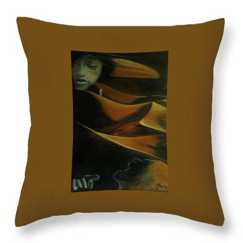 Desert Throw Pillow featuring the painting In Desert Sands- Detached by Thomas Moormann