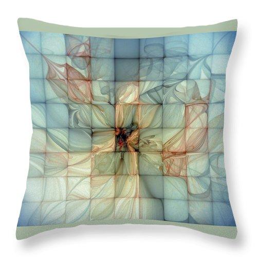 Digital Art Throw Pillow featuring the digital art In Dreams by Amanda Moore