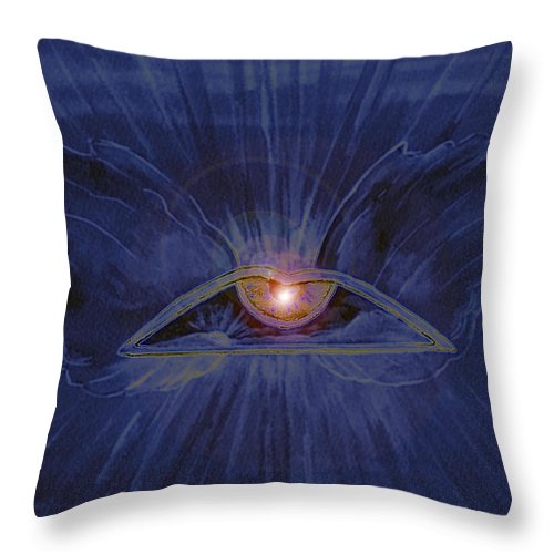 Watercolor Throw Pillow featuring the painting In Dream's Eye by Brenda Owen