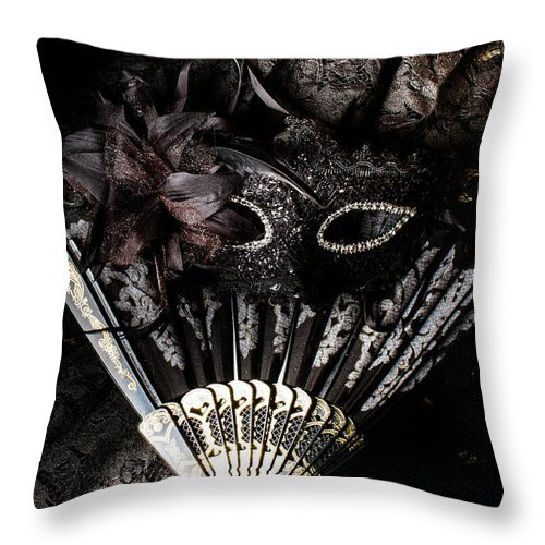 Masquerade Throw Pillow featuring the photograph In Fashion Of Mystery And Elegance by Jorgo Photography - Wall Art Gallery