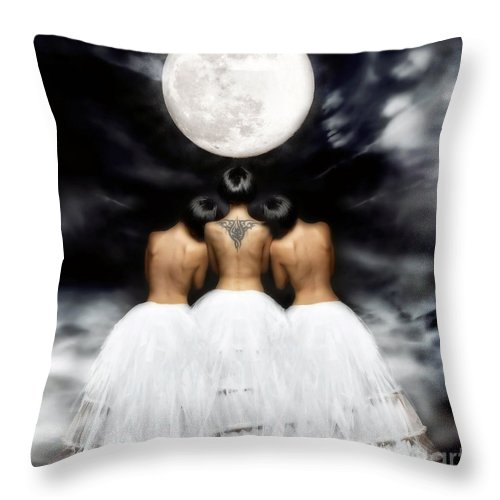 Conceptueel Throw Pillow featuring the photograph In Her Light by Jacky Gerritsen