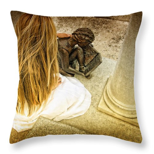 Graves Throw Pillow featuring the photograph In Loving Memory by Kristie Bonnewell