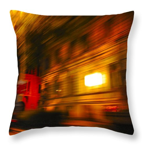 Abstract Throw Pillow featuring the photograph In Motion - 2 by Noah Cole