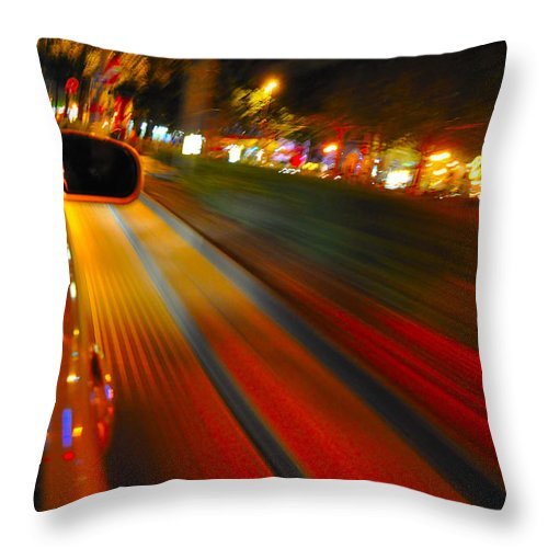 Abstract Throw Pillow featuring the photograph In Motion by Noah Cole