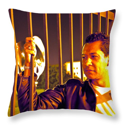 Throw Pillow featuring the photograph In Or Out by Francisco Colon