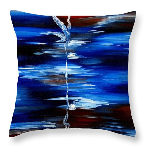Abstract Throw Pillow featuring the painting In Private by Inga Vereshchagina