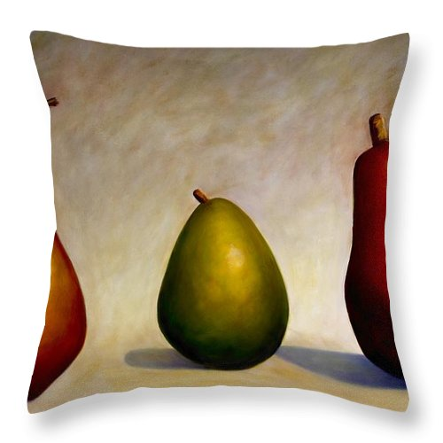 Still Life Throw Pillow featuring the painting In Repair by Shannon Grissom