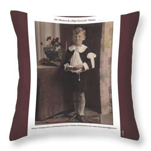 Holy Throw Pillow featuring the painting In Service To The High Lord Of The Universe by Kevin Montague