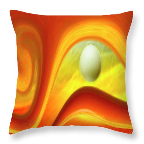 Surreal Throw Pillow featuring the digital art In The Beginning by Ben and Raisa Gertsberg